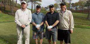 4 guys at ALS golf tournament